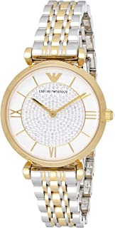 Emporio Armani Womens Quartz Watch, Analog Display and Stainless Steel Strap AR8031