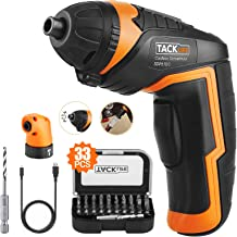 TACKLIFE SDP51DC Electric Screwdriver, 3.6V MAX 2.0Ah Li-ion Cordless Screwdriver Rechargeable, 4N.m, 33pcs Accessories, U...