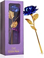 Olamtai Women Gifts, Blue Rose Flower Present 24K Golden Foil with Luxury Gift Box Great Gift Idea for Valentine's Day,...