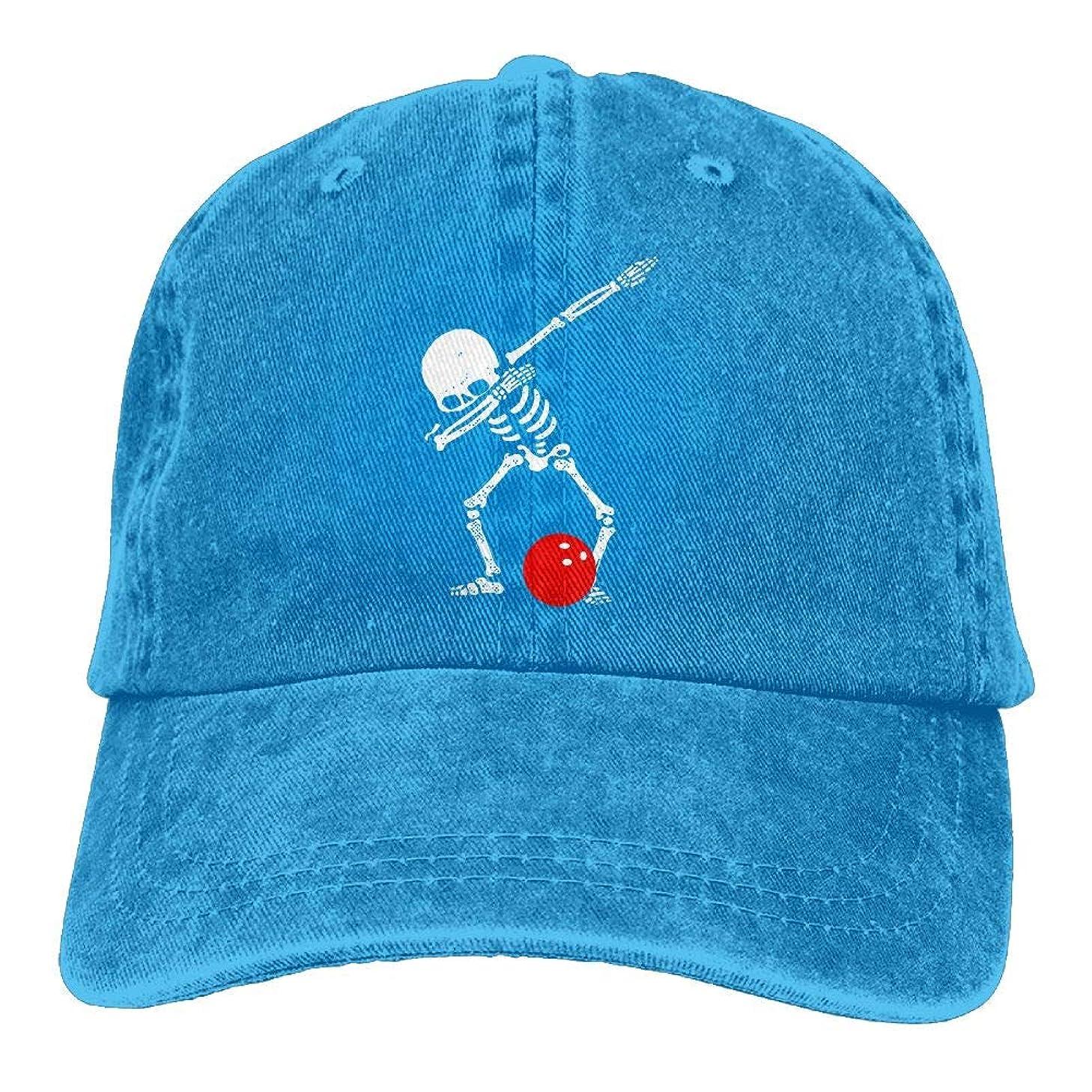 Funny Dabbing Bowling Skeleton1 Unisex Baseball Hat Cowboy Cap Sun Hats Trucker Hats