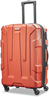 Samsonite Centric Expandable Hardside Checked Luggage with Spinner Wheels, 24 Inch, Burnt Orange