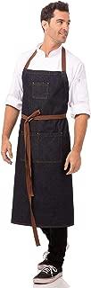 Chef Works Unisex Memphis Chefs Bib Apron, Indigo Blue, One Size