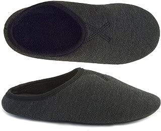 Isotoner Women's Microterry Heathered Jersey Tavi Hoodback Slipper
