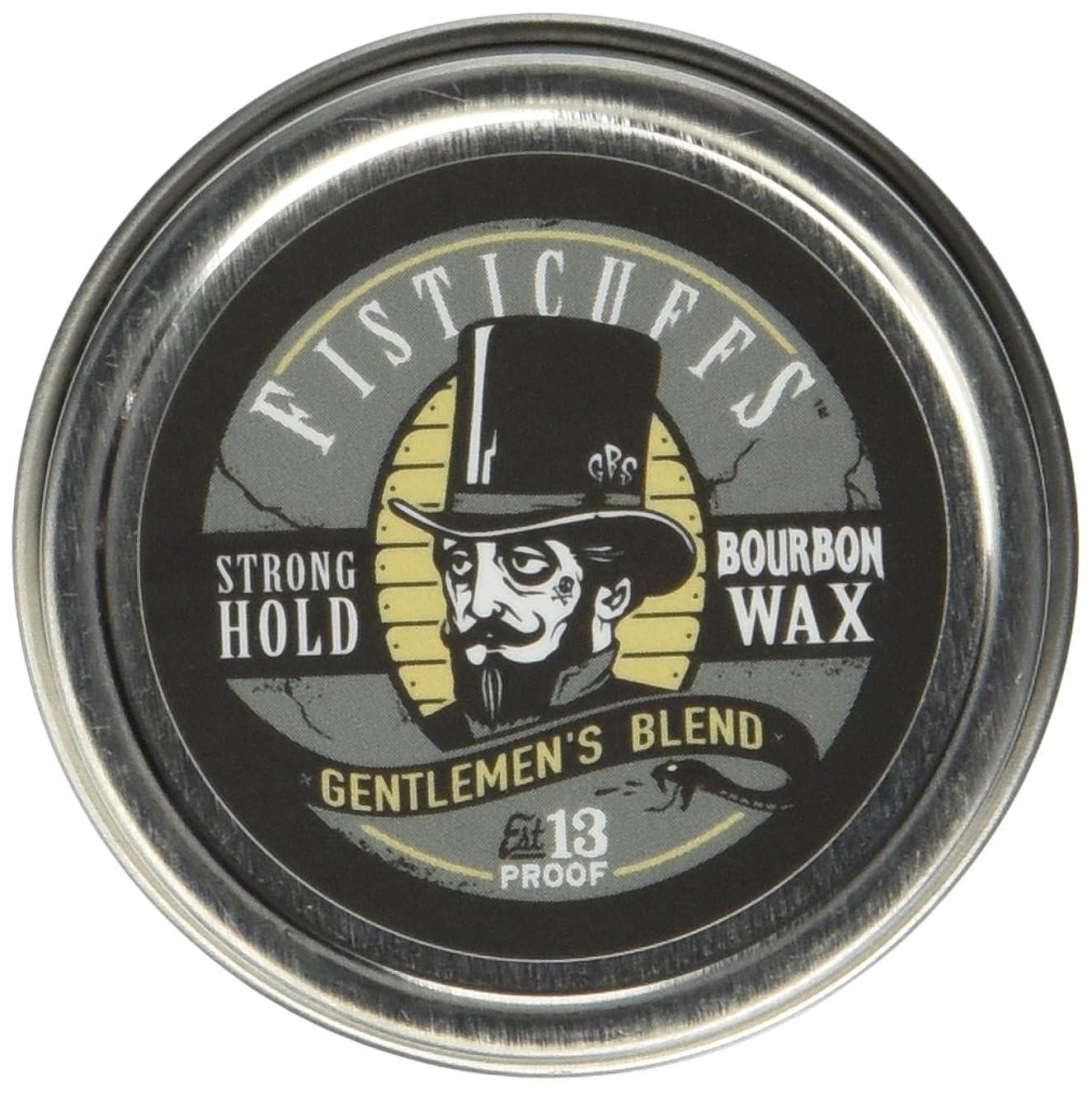 Fisticuffs Strong Hold Mustache Wax Gentlemen's Blend 1 OZ. Tin