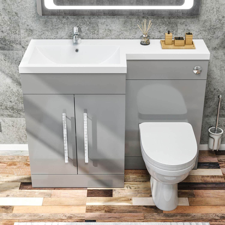 ELEGANT 20mm L Shape Bathroom Vanity Sink Unit Furniture ...