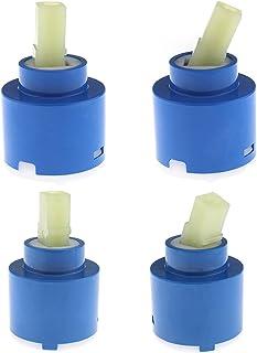 SING F LTD 2 X 40Mm Ceramic Disc Cartridge Plastic Bath Basin Shower Lever Mixer Tap Bathroom Basin Repair Replacement Accessories
