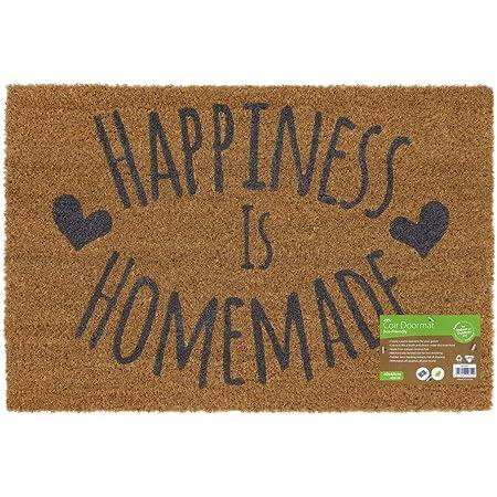 Jvl Novelty Pvc Backed Coir Mad House Entrance Door Mat Vinyl Brown 33 X 60 Cm Amazon Co Uk Kitchen Home