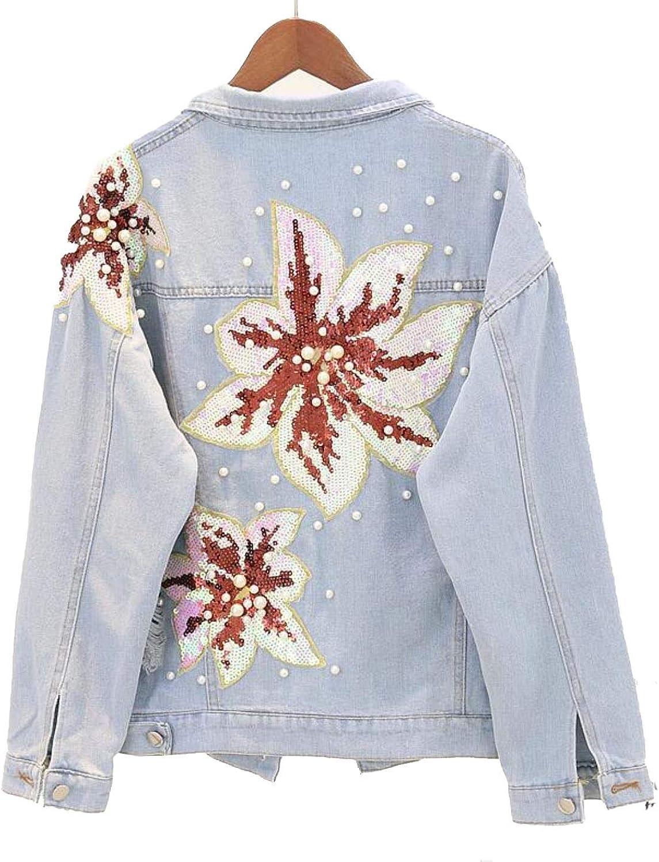 Embroidered beaded denim jacket beaded jacket