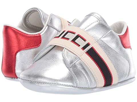 Gucci Kids Baby Ace Sneaker w/ Gucci Stripe (Infant/Toddler)