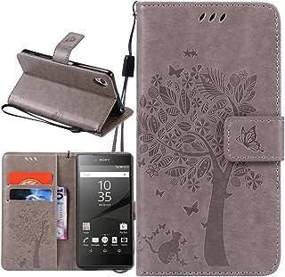 Supporter Flip PU Cuir Pochette Portefeuille Housse Coque Etui pour Sony Xperia XA avec Crédit Carte Tenant Fente B-04 Dooki Xperia XA Coque