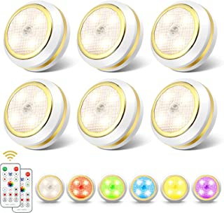SOLMORE RGB Cabinet Lights 16 Colors with Remote Control, Led Night Light Touch Dimmable, 4 modes d'éclairage, minuterie, ...