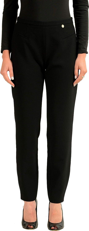 Versace Collection Black Women's Casual Pants Sz US 8 IT 44