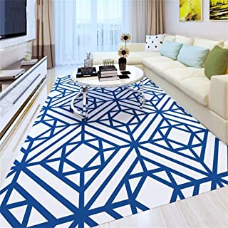 Tapis Rectangulaire Antidérapant Moderne Simple Bleu/Tapis/Tapis pour Salon Table Basse Chambre Canapé Chambre Chevet (Tai...