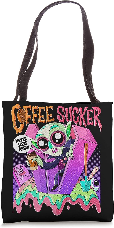 Kawaii In stock Max 56% OFF Cutesferatu Vampire Count Scary Coffee Sucker Horror Tote