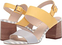 Harbor Mist/Harbor Mist Stripe Print/Sunset Gold Leather