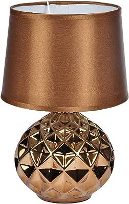 HOMEA 6LCE121CU LAMPE, CERAMIQUE, 40 W, CUIVRE, DIAMETRE20H29.5CM