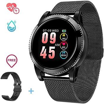 GOKOO Smartwatch Hombre Mujer Android, Pulsera Actividad Inteligente para Deporte, Reloj Iinteligente Hombre Mujer, Reloj de Fitness con Podómetro Cronómetros