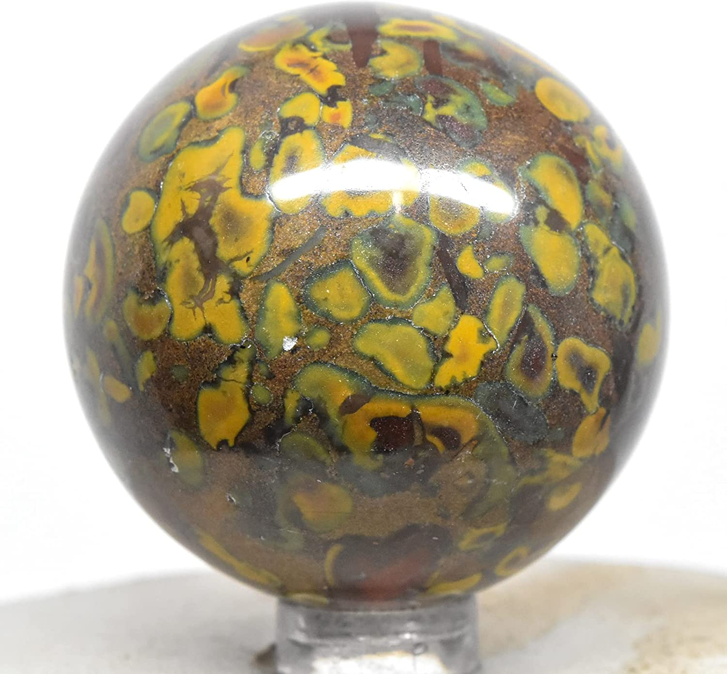 47mm 155g Ajooba Fruit Jasper Natur Now free shipping Polished Sphere Conglomerate SEAL limited product