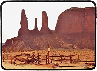 House Decor Personalized Mouse Pad,Scenic Archaic Monument Valley on Western Desert Odd Formation of Rock and Cliff Print for Work Game,9.84''Wx11.81''Lx0.12''H