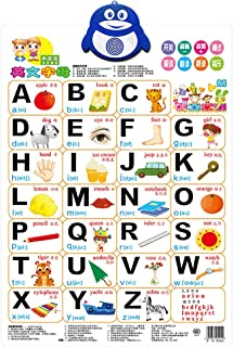 WAQIA Oh Talking Alphabet Poster, Electronic Interactive Alphabet Wall Chart, Toddler Educational Toys & Learning Toys for 2-5 Years Olds Music ABC 123s English Toddler Educational Toys