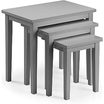 Nebraska Oak Dark Grey Nest of Tables