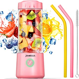 Portable Blender, Jovokich Personal Blender for Shakes and Smoothies, 14oz Juice Extractor Fruit Cup with 4000mAh USB Rech...