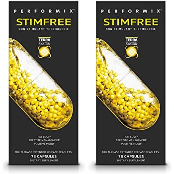 Performix STIMFREE Non-Stimulant Thermogenic, Fat Loss & Appetite Management, 78 Capsules (2 Pack)