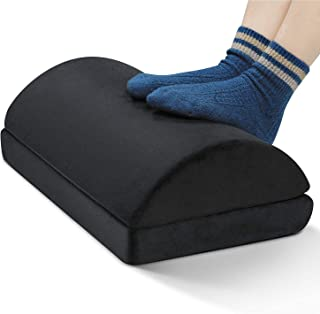 Moonmen Adjustable Foot Rest Under Desk,Soft Foam Office Footrest Cushion for Lumbar, Back, Knee Pain,Foot Stool Rocker (4...
