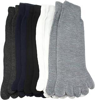 xhorizon, 5 Pares Nuevo Calcetines Cinco Dedo del Pie Separados Mezcla del Algodón Hombre