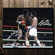 Sugar Ray Leonard vs Roberto Duran II NO MAS FIGHT Boxing Dual Autographed 16x20 - Autographed Boxing Photos
