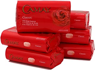 Camay Classic Bar Soap, Body wash Bar with Rose Essence, Cleans your skin, Helps Moisturize your Skin, Subtle Scented, 6-P...