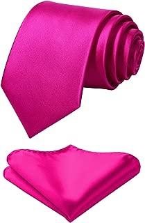 hot pink tie and handkerchief