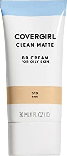 COVERGIRL Clean Matte BB Cream For Oily Skin, Fair 510, (Packaging May Vary) Water-Based Oil-Free Matte Finish BB Cream, 1 Fl Oz (1 Count)