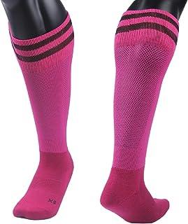 Lian LifeStyle Girls' 1 Pair Knee Length Sports Socks for Baseball/Soccer/Lacrosse XL003 XS(Rose)