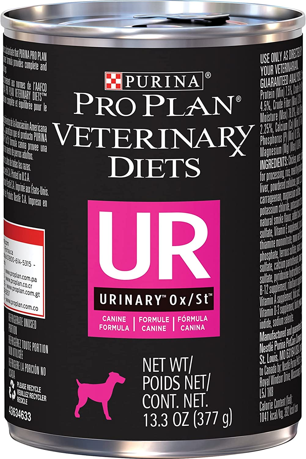 Purina Pro Plan Veterinary Diets UR Urinary Ox/St Canine Formula Wet Dog Food, 13.3 oz., Case of 12, 12 X 13.3 OZ