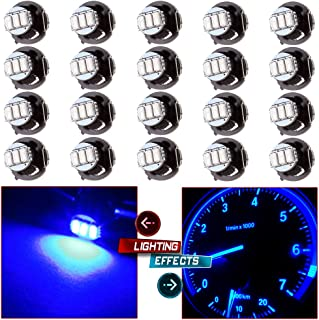 cciyu 20 Pack Blue T4/T4.2 Neo Wedge 3LED Climate Control Light Bulbs Replacement fit for 1996-1999 Dodge Caravan 1998-200...