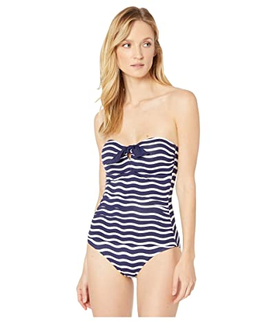 Tommy Bahama Sea Swell Tie Front Bandeau One-Piece (Mare Navy) Women