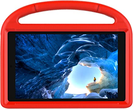 LEDMOMO Case for Fire HD 10 Tablet, Light Weight Shock Proof Convertible Ultra-Slim Kid-Proof Cover Kids Case, for Kindle Fire HD 10 2015/2017 (Red)