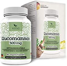VITA1 Glucomannan 500mg aE Appetite suppressant Capsules 2-Weeks-Supply aE Vegan Appetite Reducer from The Konjac Root aE Made in Germany Estimated Price : £ 9,95