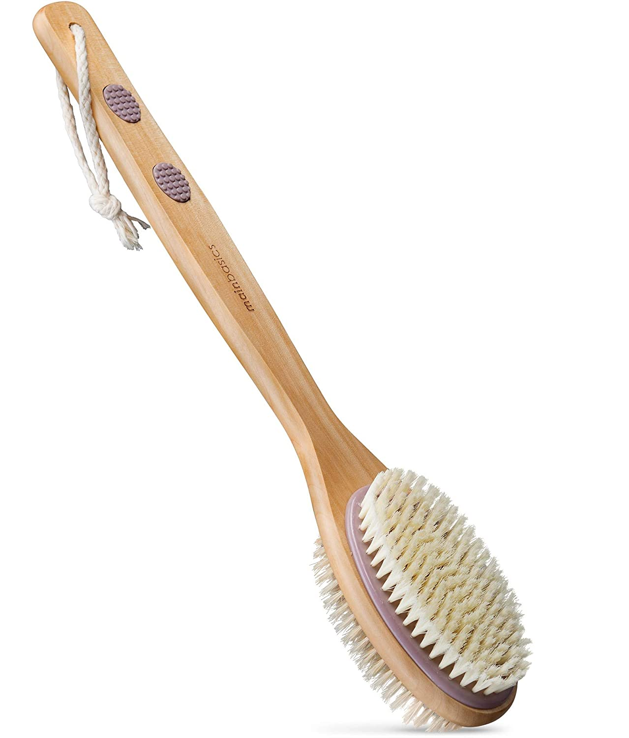 MainBasics Dual-Sided Long Handle 2021 Bath Brush Scrubbe Back Super special price Shower
