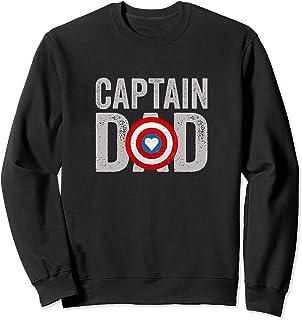 Super Captain Dad Superhero Sweatshirt
