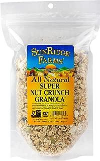 SunRidge Farms Super Nut Crunch Granola - NonGMO Verified, 16 Ounce Bag (Pack of 12)