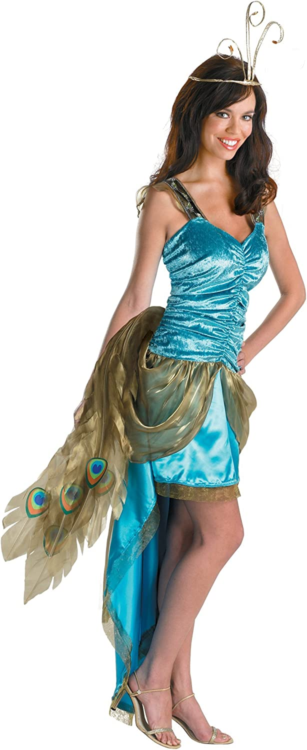 Disguise Princess Peacock Year-end annual account - MED Women's Over item handling ☆ Blue Costume