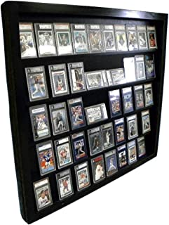 Sports Card Display Case for 50 PSA Graded Cards Deep Beckett