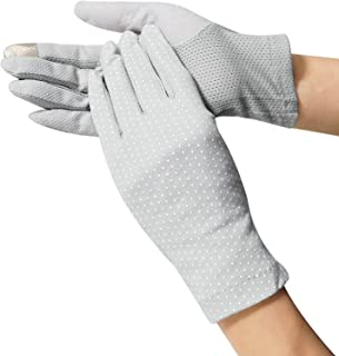 Women Screentouch Lightweight Sunblock Gloves Summer UV Protection Driving Cotton Gloves