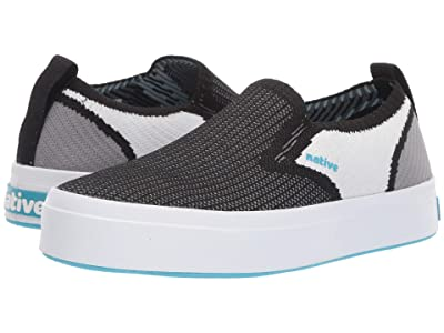 Native Kids Shoes Miles 2.0 Liteknit (Little Kid) (Jiffy Black/Shell White/Dublin Grey) Kid