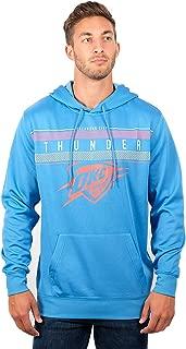Men's NBA Fleece Hoodie Pullover Sweatshirt Poly Midtown, Oklahoma City Thunder, Team Color, Medium