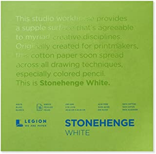 Legion Paper Stonehenge Pad (8), 8 by 8 Inches, White Paper, 15 Sheets