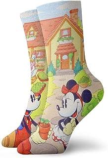 AIMHOUSE, Calcetines unisex con diseño de Mickey Mouse con dibujos animados
