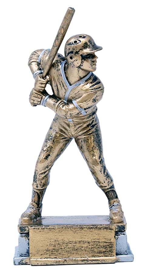 Decade Awards ? Baseball at Bat Sport Series Trophy ? Male Batter Award - Gold | 7.5 Inch Tall - Free Engraved Plate on Request t866560723